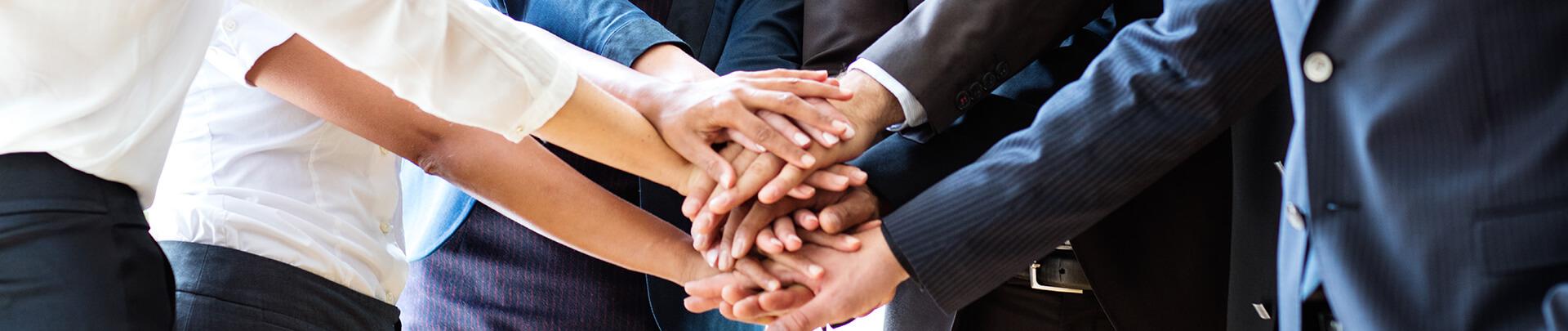 Unternehmen Hände